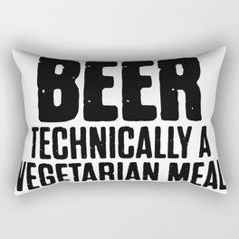 Beer Technically A Vegan Meal Rectangular Pillow