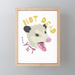 Possum Not Dead Yet Live Ugly Face Your Death Opossum Framed Mini Art Print