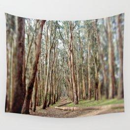 Eucalyptus Tree Forest Pathway, Lovers' Lane, Presidio San Francisco Photography Wall Tapestry