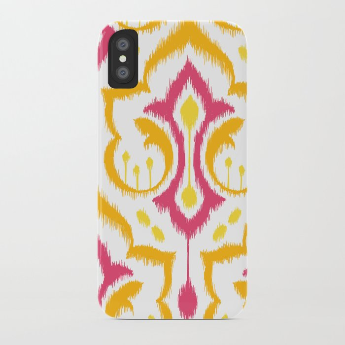 Ikat Damask - Berry Brights iPhone Case