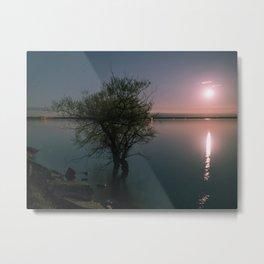Moonrise over Sandbanks Metal Print