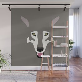 Gray Wolf (Tongues Out Project) Wall Mural
