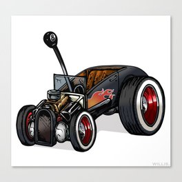 Red-Hot Ford Roadster Canvas Print