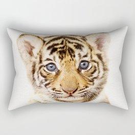 Baby Tiger, Baby Animals Art Print By Synplus Rectangular Pillow