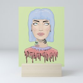 don't roll your eyes on me Mini Art Print