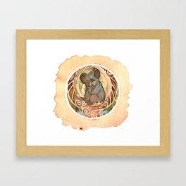 Koala Cuddles Framed Art Print