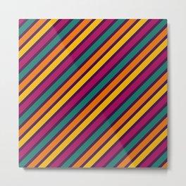 Happy Stripes Pattern Metal Print