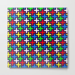 Colorful crosses pattern Metal Print