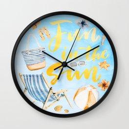 Summer Vibe 6 Wall Clock