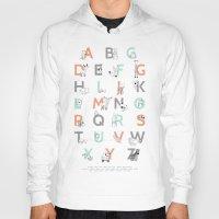 alphabet Hoodies featuring Animal Alphabet by Amy Hamilton