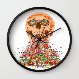 Death by Candy Wall Clock