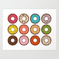 donuts Art Prints featuring Donuts by TinyBee