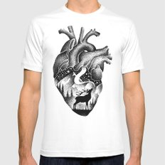 WILD HEART White Mens Fitted Tee LARGE
