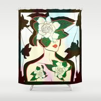 window Shower Curtains featuring WINDOW by Lorenza Bluetiz