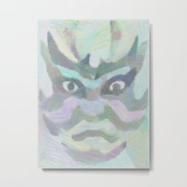 歌舞伎 Kabuki Metal Print