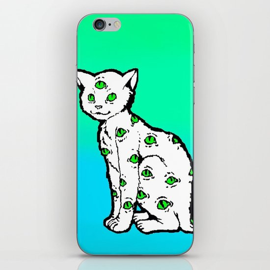 SCAREDY CAT (Cool Colors) iPhone & iPod Skin