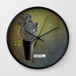 CRZN Dynamic Microphone - 003 Wall Clock
