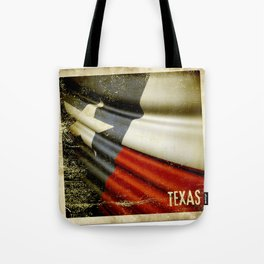 Grunge sticker of Texas (USA) flag Tote Bag