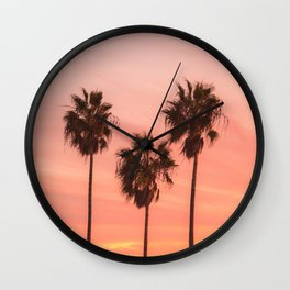 Palm Tree Squad Venice Beach California Wall Clock