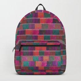 """Full Color Squares Pattern"" Backpack"