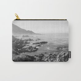Black and White Monterey coast Carry-All Pouch