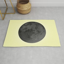 BLACK MOON + CANARY YELLOW SKY Rug