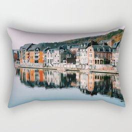 VILLAGE - HOUSE - RIVER - REFLECTION - PHOTOGRAPHY Rectangular Pillow