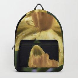 Rain drop daffodil Backpack