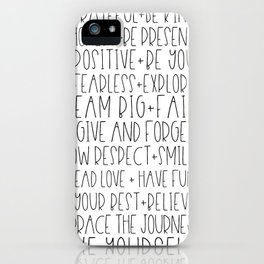 Family Reminders + Values iPhone Case