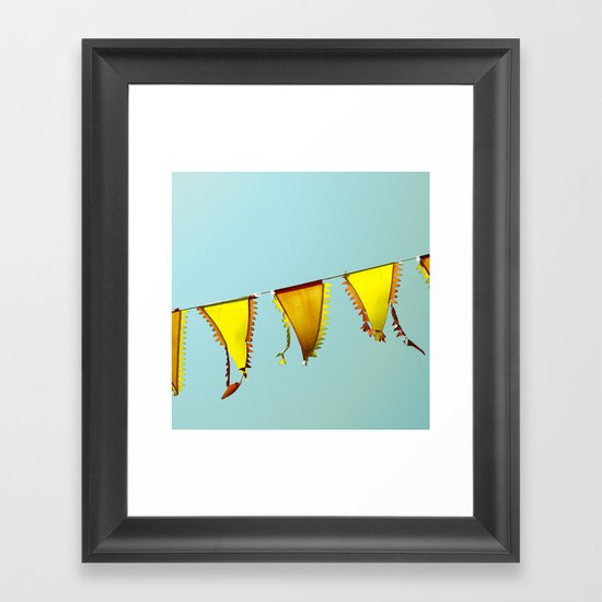 Flag Line Framed Art Print