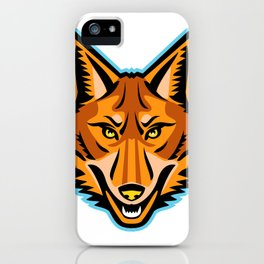 Coyote Head Front Mascot iPhone Case