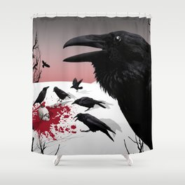 """Murder!"" She Crowed Shower Curtain"