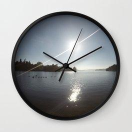 Lake Rotoiti Morning Sun Wall Clock