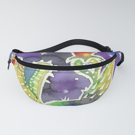Prickly Pear Cactus in Twilight Fanny Pack