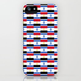 Mix of flag: Israel and Egypt iPhone Case