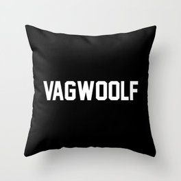 VagWoolf2 Throw Pillow