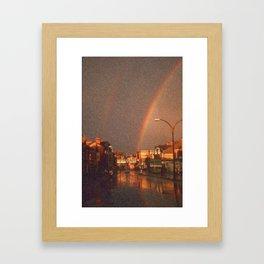 City Rainbow Framed Art Print