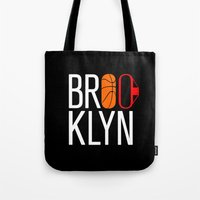 brooklyn Tote Bags featuring Brooklyn by David Bastidas