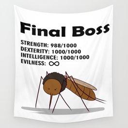 Final Boss - Black Letters Wall Tapestry