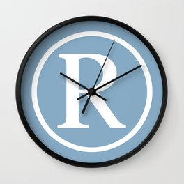 Registered Trademark Sign on placid blue background Wall Clock
