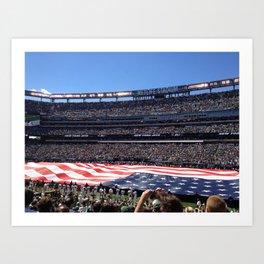 Jet's home opener - National Anthem Art Print