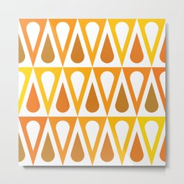 Geometric Pattern #57 (orange teardrop triangles) Metal Print