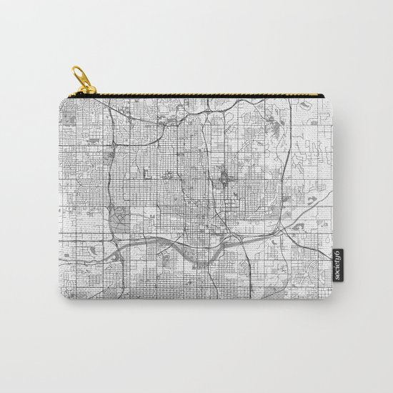 Oklahoma City Map Line Carry-All Pouch