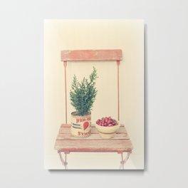 Cranberries and pine tree Metal Print