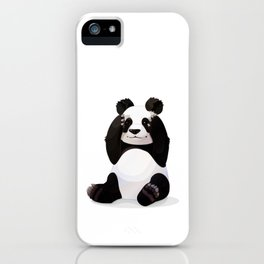 Cute big panda bear iPhone Case