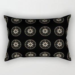 Mariner's Compass Pattern Rectangular Pillow