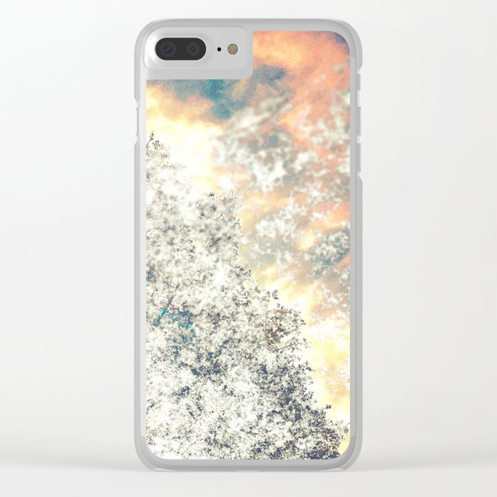 Snow, Sunshine and Sky Clear iPhone Case