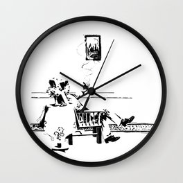 A Smoke Wall Clock