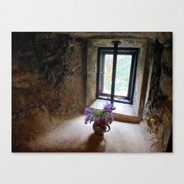 Dreaming - vase of flowers Canvas Print