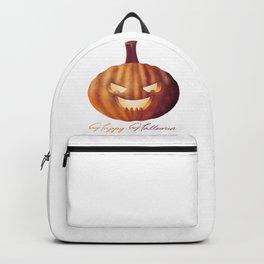 Happy Halloween Pumpkin Lantern Backpack